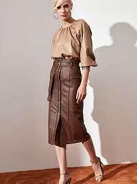 Trendyol hnedé dámska sukňa