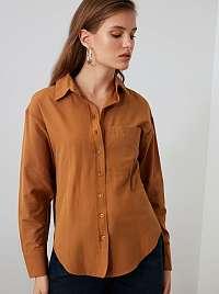 Trendyol hnedé košeľa
