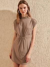 Trendyol hnedé letné šaty