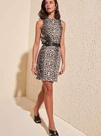 Trendyol hnedé letné šaty so vzormi