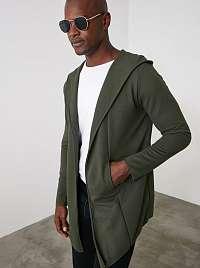 Trendyol khaki pánsky sveter