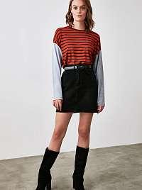 Trendyol oranžové dámske tričko