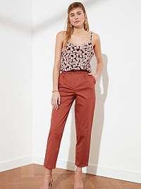 Trendyol oranžové nohavice