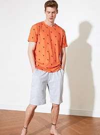 Trendyol oranžovo-sivé pánske pyžamo