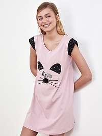 Trendyol ružová nočná košeľa