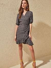 Trendyol sivé letné šaty