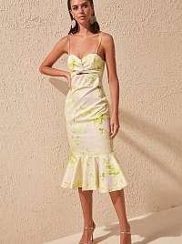 Trendyol smotanové/krémové šaty