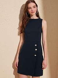 Trendyol tmavomodré elegantné šaty