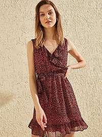 Trendyol vínové/bordové letné šaty