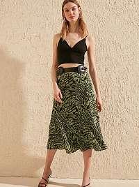 Trendyol zelené dámska sukňa