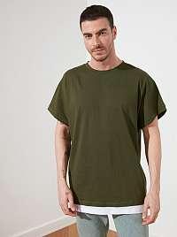 Trendyol zelené pánske oversized tričko