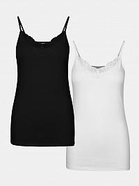 Vero Moda 2 pack tielok v čiernej a bielej farbe Inge
