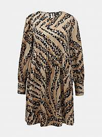 Vero Moda béžové šaty Gaja so vzormi