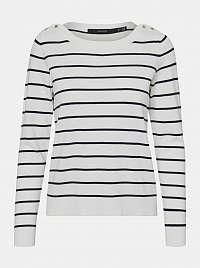 Vero Moda biely pruhovaný sveter Alma