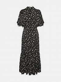 Vero Moda čierne maxi šaty so vzormi