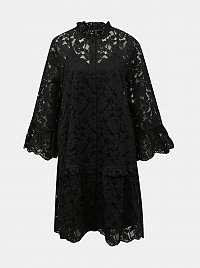 Vero Moda čierne šaty Aurelia s čipkou