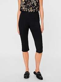 Vero Moda čierne trojštvrťové nohavice Lexie