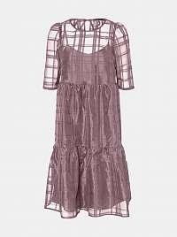 Vero Moda fialové maxi šaty