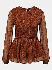 Vero Moda hnedá blúzka so vzorom