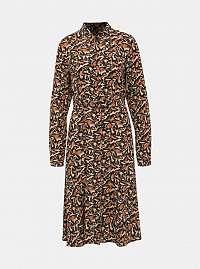 Vero Moda hnedé košeľové šaty Cambria