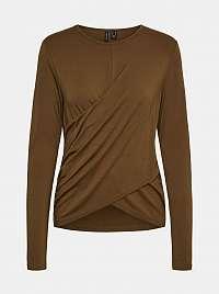 Vero Moda hnedé tričko