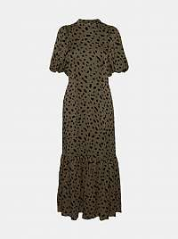 Vero Moda khaki maxi šaty so vzormi