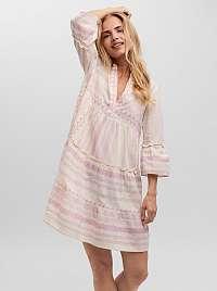 Vero Moda krémovo-ružové voľné šaty Dicthe so vzormi