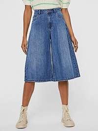 Vero Moda modré cullotes džínsy Clemma
