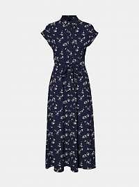 Vero Moda modré kvetované košeľové maxi šaty Fallie