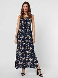Vero Moda modré kvetované maxi šaty Simply