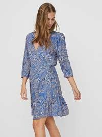 Vero Moda modré šaty Gea so vzormi