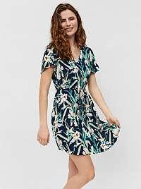 Vero Moda petrolejové kvetované šaty Simply
