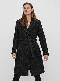 Vero Moda tmavo sivý vlnený kabát
