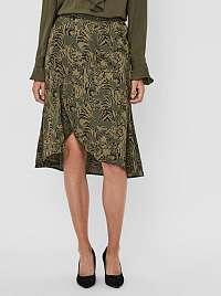 Vero Moda zelená vzorovaná sukňa Kate