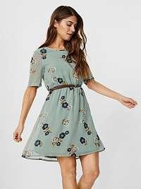 Vero Moda zelené kvetované šaty Fallie