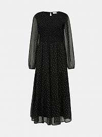 Vila čierne maxi šaty Rinta