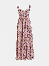 Vila ružové maxi šaty Sinara