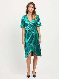 Vila smaragdovo zelené flitrované šaty Lilja