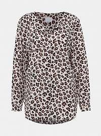 Vila svetlá blúzka Lucy s leopardím vzorom
