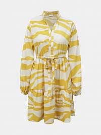 Vila žlté šaty so vzormi Omina