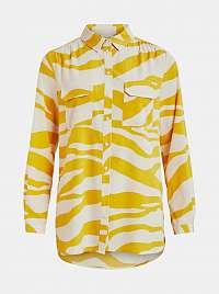 Vila žlté vzorovaná košeľa Omina