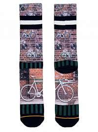 XPOOOS farebné pánske ponožky Fixie --46