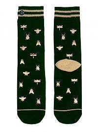 XPOOOS zelené dámske onesize ponožky Insect - U