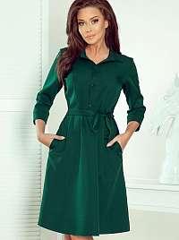 Zelené košeľové šaty numoco
