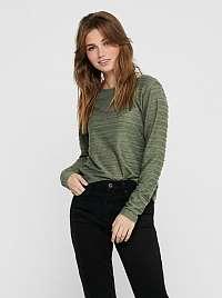 Zelené tričko s prestrihom na chrbte ONLY