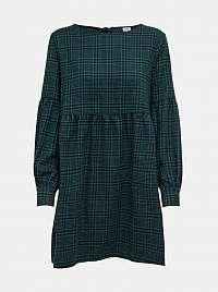 Zelené voľné kockované šaty Jacqueline de Yong