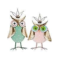 Zeleno-zlatá socha Owl