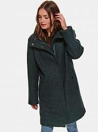Zelený vlnený kabát TOP SECRET