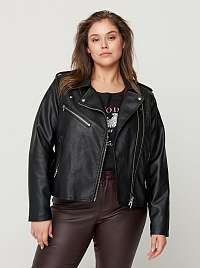 Zizzi čierna kožená bunda
