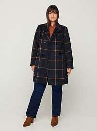 Zizzi modrá bunda s kockovaným vzorom